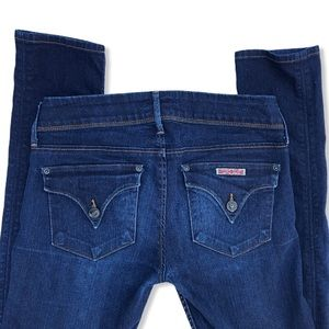 Hudson Collin Flap Pocket Skinny Jeans Medium Wash